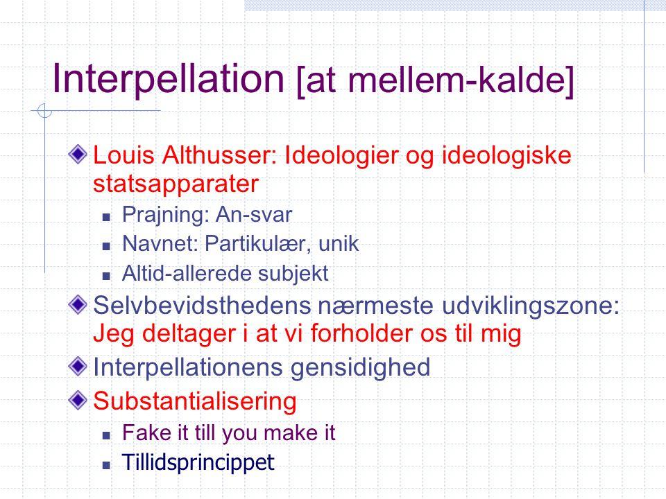 Interpellation [at mellem-kalde]